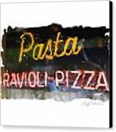 Pasta Canvas Print by Geoff Strehlow