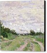 Path Through The Vines At Argenteuil Canvas Print