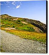 Path To Cabot Tower On Signal Hill Canvas Print by Elena Elisseeva