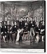 Patriotic Irish-american Print Ca. 1875 Canvas Print by Everett