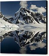 Peaks Along  Neumayer Channel Canvas Print by Colin Monteath