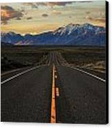 Peaks To Craters Highway Canvas Print by Benjamin Yeager