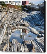 Pemaquid Point Reflections Canvas Print by George Oze