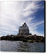 Penfield Reef Lighthouse Canvas Print by Stephanie McDowell