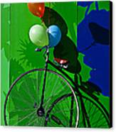 Penny Farthing And Balloons Canvas Print by Garry Gay