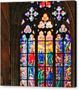 Pentecost Window - St. Vitus Cathedral Prague Canvas Print by Christine Till