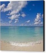 Perfect Beach Day With Blue Skies Canvas Print by Mike Theiss