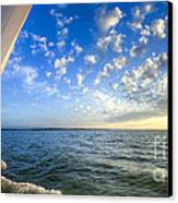 Perfect Evening Sailing On The Charleston Harbor Canvas Print by Dustin K Ryan