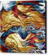 Permanent Waves Canvas Print by Linda Sannuti
