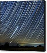 Perseid Smoky Mountain Startrails Canvas Print by Daniel Lowe