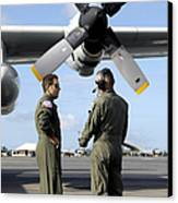 Personnel Conduct A Pre-flight Briefing Canvas Print by Stocktrek Images
