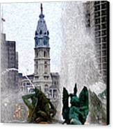 Philadelphia Fountain Canvas Print