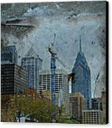 Philadelphia Skyline Canvas Print by Mother Nature