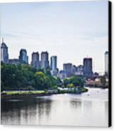 Philadelphia View From The Girard Avenue Bridge Canvas Print by Bill Cannon