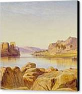 Philae - Egypt Canvas Print by Edward Lear