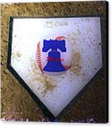 Phillies Home Plate Canvas Print by Bill Cannon