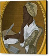 Phillis Wheatley, African-american Poet Canvas Print by Photo Researchers