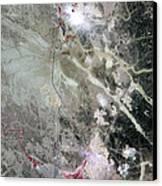 Phosphate Mines, Jordan Canvas Print by Nasa