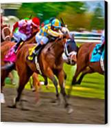 Photo Finish Canvas Print by Richard Marquardt