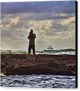 Photographing Seaside Life Canvas Print by Douglas Barnard