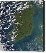 Phytoplankton Bloom Off The Coast Canvas Print