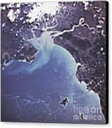 Phytoplankton Or Algal Bloom Canvas Print by Nasa
