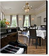 Piano In A Upscale Dining Room Canvas Print