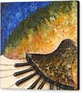 Piano Jazz Canvas Print by Draia Coralia