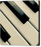 Piano Keys Canvas Print by Dm909