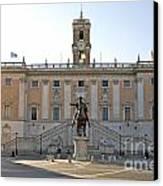 Piazza Del Campidoglio. Capitoline Hill. Rom Canvas Print by Bernard Jaubert