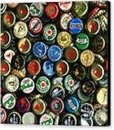 Pile Of Beer Bottle Caps . 8 To 10 Proportion Canvas Print