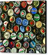 Pile Of Beer Bottle Caps . 9 To 12 Proportion Canvas Print