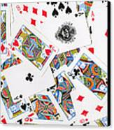 Pile Of Playing Cards Canvas Print