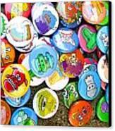 Pinback Buttons Canvas Print by Jera Sky
