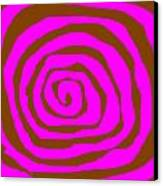 Pink And Brown Swirls Canvas Print by Jeannie Atwater Jordan Allen