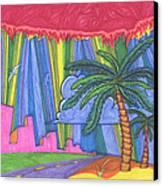 Pink City Canvas Print