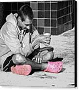 Pink Crocks Canvas Print