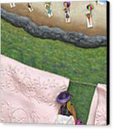 Pink Linen- Crop-to See Full Image Click View All Canvas Print