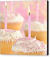 Pink Party Cupcakes Canvas Print by Amanda Elwell