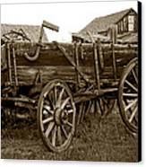 Pioneer Freight Wagon - Nevada City Ghost Town Canvas Print by Daniel Hagerman