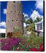 Pirate Castle Tower Canvas Print by George Oze