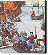 Pirates Burn Havana, 1555 Canvas Print by Photo Researchers