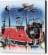 Pirates Ransom - Clearwater Florida Canvas Print by Bill Cannon