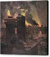 Pittsburgh: Furnaces, 1885 Canvas Print