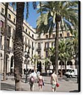 Placa Reial Barcelona Spain Canvas Print