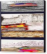Planes Trains Automobiles Triptych Canvas Print