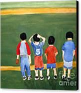 Play Ball Canvas Print by Sandy McIntire