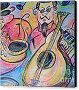 Play The Blues Canvas Print by M C Sturman