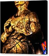 Player In Bronze Canvas Print by Christopher Holmes