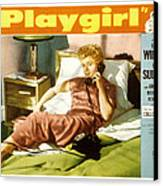 Playgirl, Shelley Winters, 1954 Canvas Print by Everett